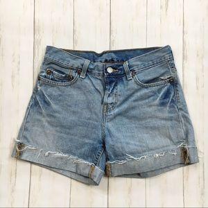 Levi's 501 Light Wash Blue Jean Denim Shorts